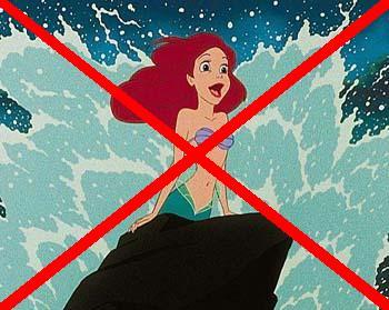 Not like the mermaid!