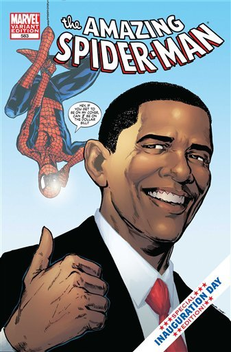 """Amazing Spider-Man"" #583 Obama Variant First Printing"