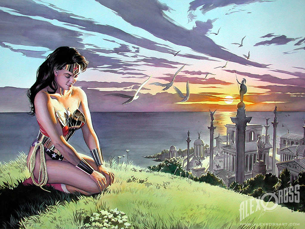 Wonder Woman painted by comic writer/artist Alex Ross.