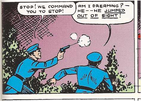"Image from ""Action Comics"" #8 written by Siegel and illustrated by Shuster."