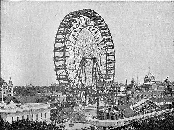 The first ferris wheel was built for the fair.