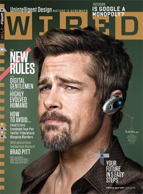 Brad Pitt Wired Cover