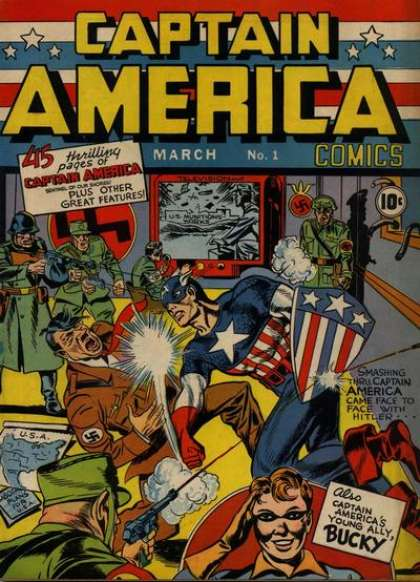 The cover of Captain America #1 is my all-time favorite.