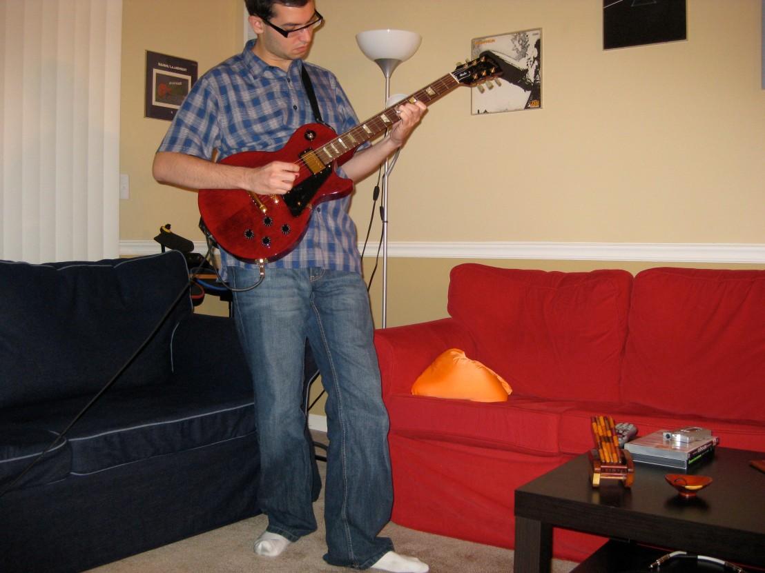Playing my beloved Les Paul Studio
