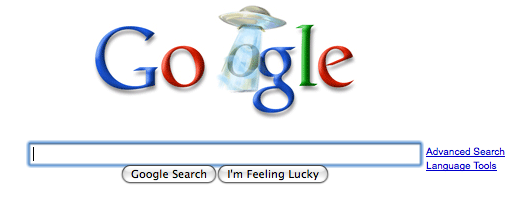 Google Unexplained phenomenon logo