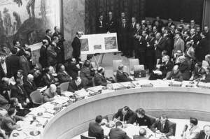 Adlai Stevenson kicks ass on the floor of the UN during the Cuban Missile Crisis... my favorite moment in world history.