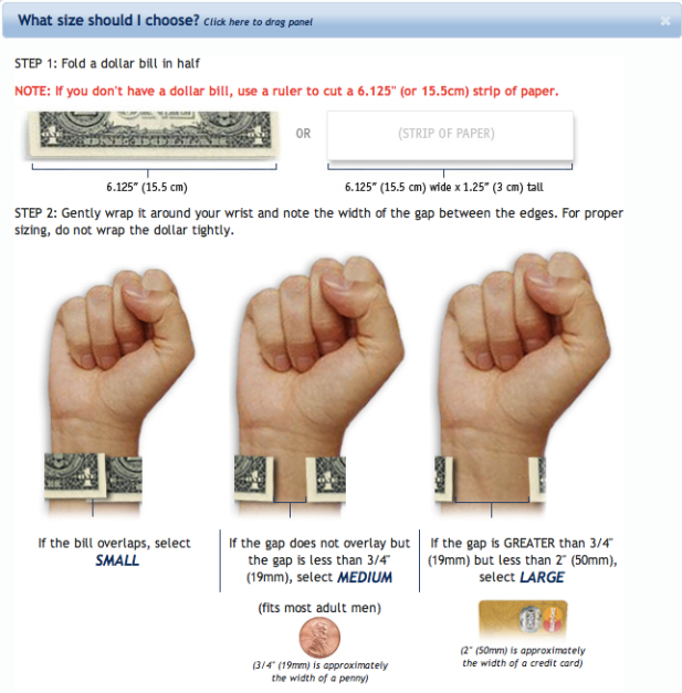 RoadID Wrist Measurement Is Brilliant Web Design