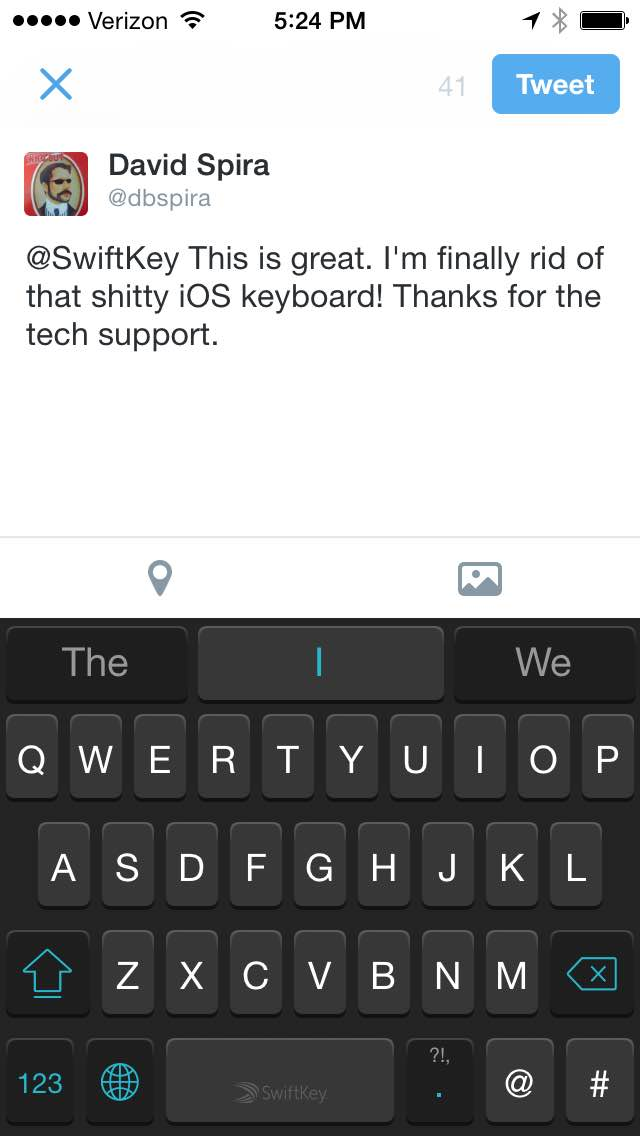 I made the mistake of downloading SwiftKey Note... It was a bit confusing