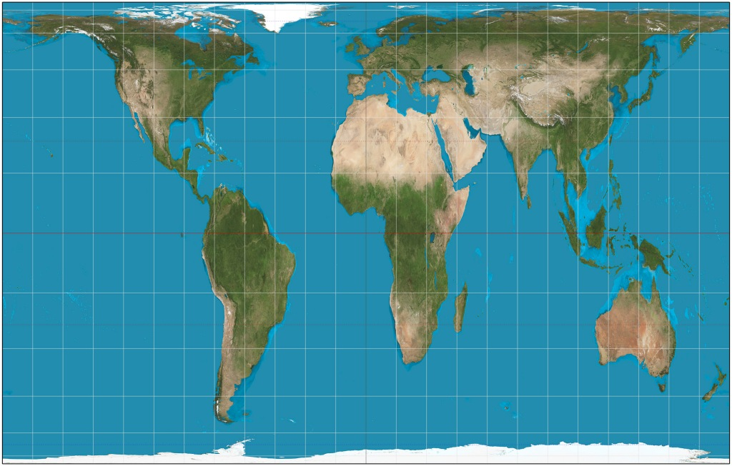 Gall–Peters map projection shows relative size of countries more accurately than the mercator map projections that were used in my school.